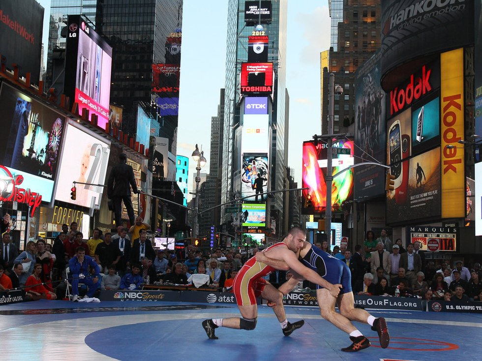 Grappling in the big apple.
