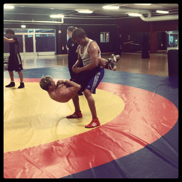 Wrestlers Training