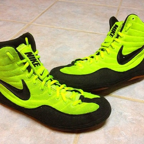 In Love. Neon Green Nike Inflicts Wrestling Shoes