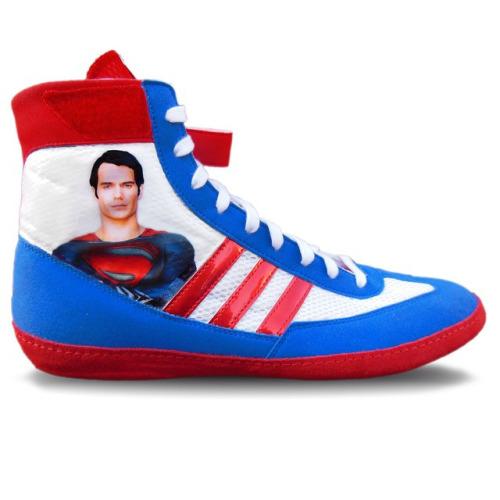 Custom Superman Wrestling Shoes